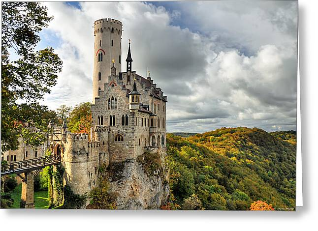 Tourists Greeting Cards - Lichtenstein Castle Greeting Card by Ryan Wyckoff