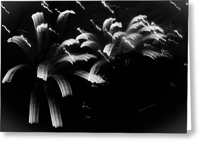 White Photographs Greeting Cards - Licorice Sky Greeting Card by DigiArt Diaries by Vicky B Fuller