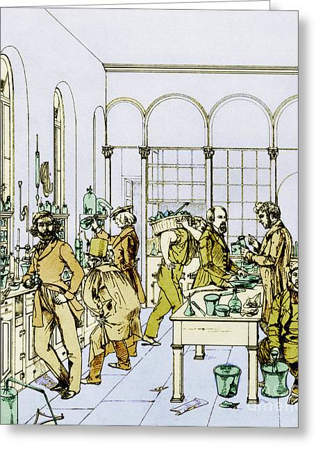 On High Greeting Cards - Liebigs Laboratory, Giessen Greeting Card by Science Source