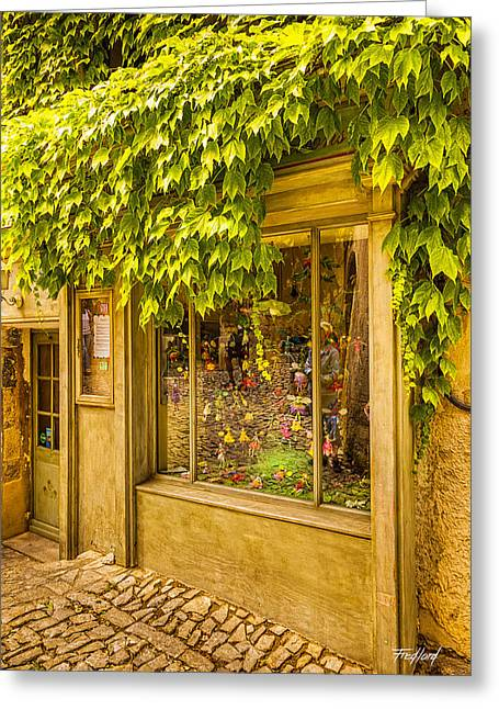 Toy Shop Greeting Cards - Lierre et une fenetre dans Seguret France Greeting Card by Fred J Lord
