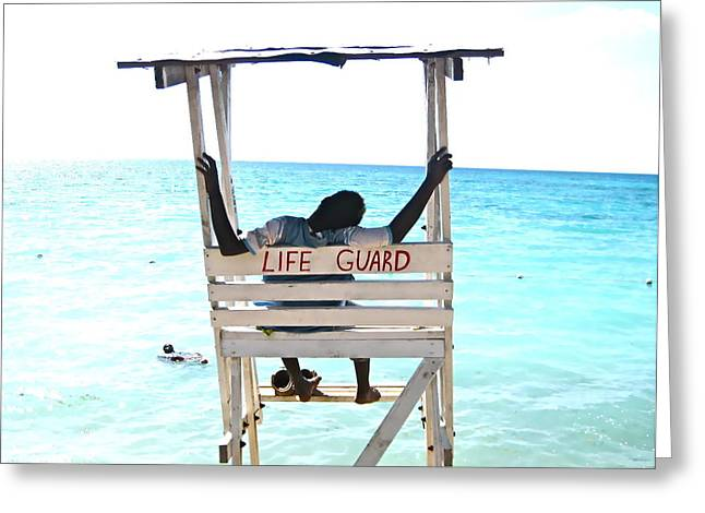 Blake Yeager Greeting Cards - Life Guard Greeting Card by Blake Yeager