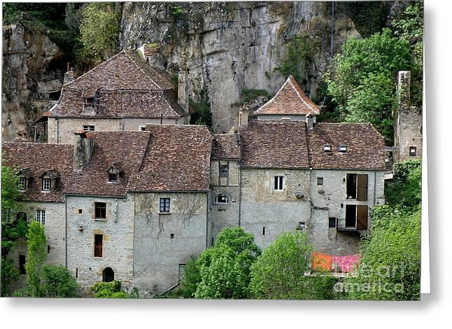 Lainie Wrightson Greeting Cards - Life in Rocamadour Greeting Card by Lainie Wrightson