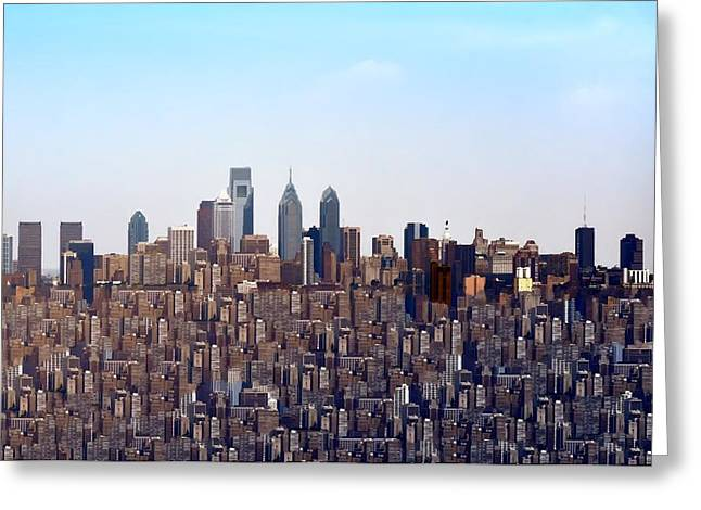 Philadelphia Digital Art Greeting Cards - Life in the Big City Greeting Card by Bill Cannon