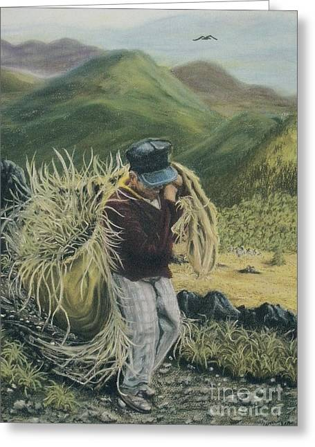 Gathering Pastels Greeting Cards - Life in the Fields Greeting Card by Jim Barber Hove