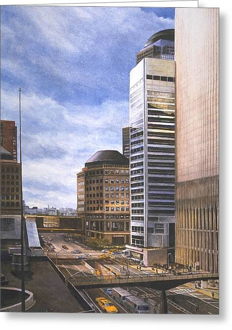 Wtc 11 Paintings Greeting Cards - Life in the Hologram Greeting Card by Michael Cook
