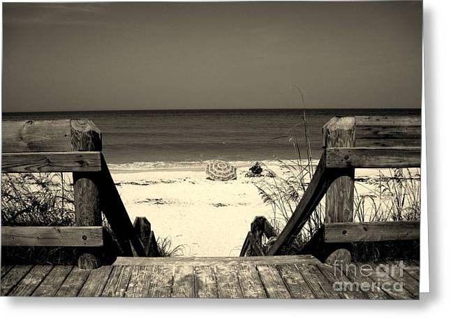 Abstract Beach Landscape Greeting Cards - Life is a beach Greeting Card by Susanne Van Hulst