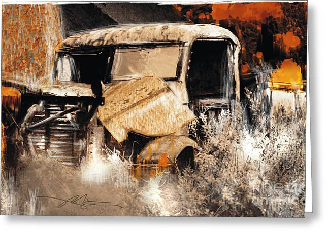 Rusty Pickup Truck Greeting Cards - Life Is A Highway Greeting Card by Bob Salo