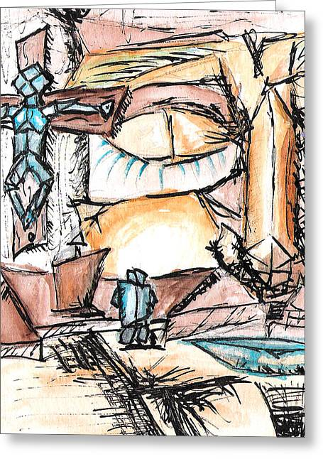Religious Mixed Media Greeting Cards - Life Is A Mystery Greeting Card by Jera Sky