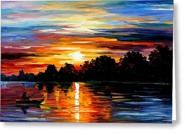 life memories Greeting Card by Leonid Afremov