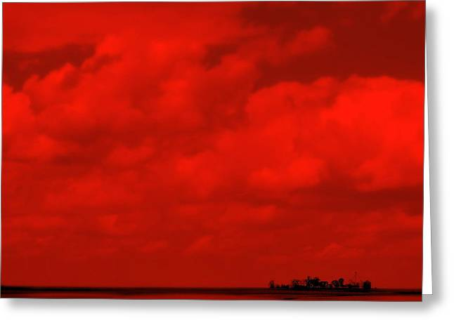 Indiana Landscapes Digital Art Greeting Cards - Life On Mars Greeting Card by Ed Smith