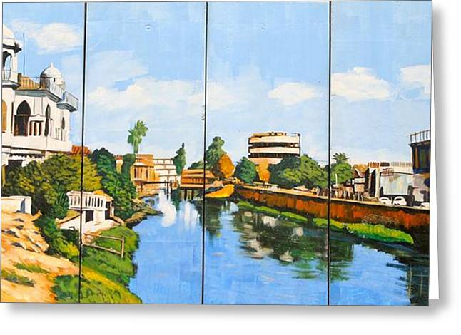 Iraq Conflict Greeting Cards - Life on the Canal Greeting Card by Unknown