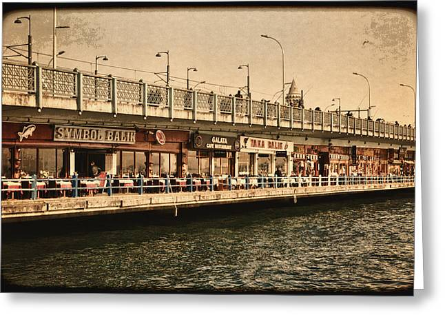 Galata Greeting Cards - Life on the Water Greeting Card by Joan Carroll