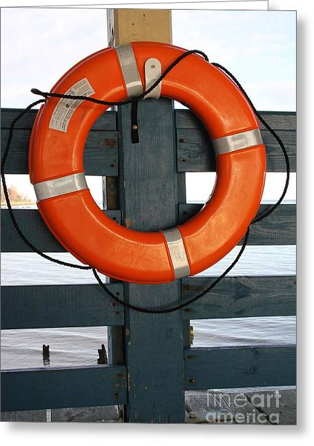 Buoyancy Greeting Cards - Life Preserver Ring Greeting Card by Photo Researchers, Inc.