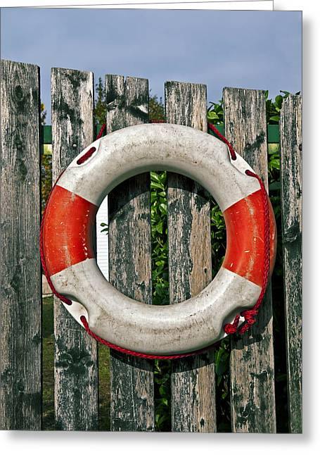 Assistance Greeting Cards - Lifebuoy Greeting Card by Joana Kruse