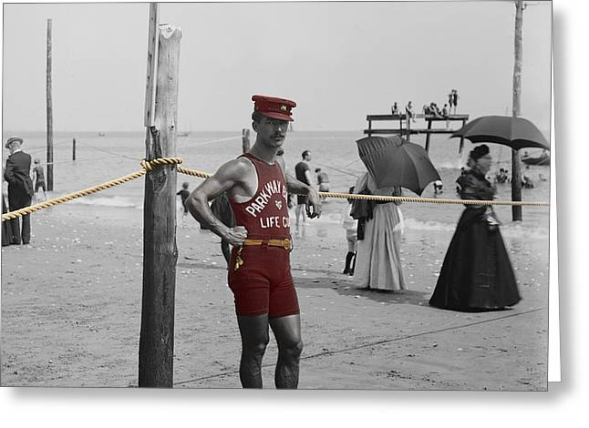 Brighton Beach Greeting Cards - Lifeguard Greeting Card by Andrew Fare
