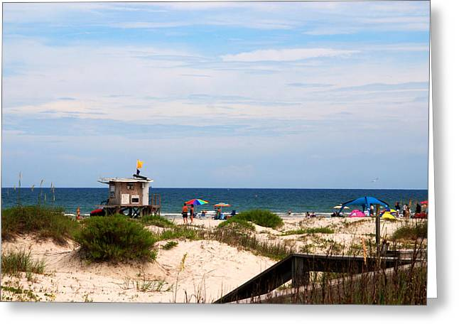 Jetty View Park Greeting Cards - Lifeguard on duty Greeting Card by Susanne Van Hulst