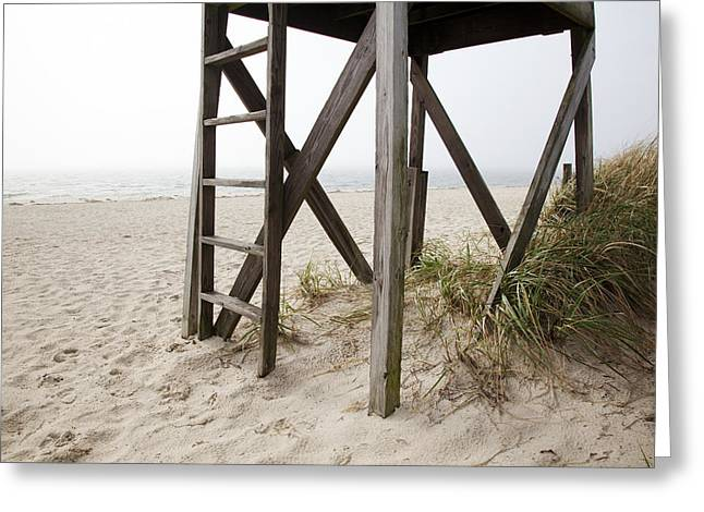 Atlantic Beaches Greeting Cards - Lifeguard Station Greeting Card by Jenna Szerlag