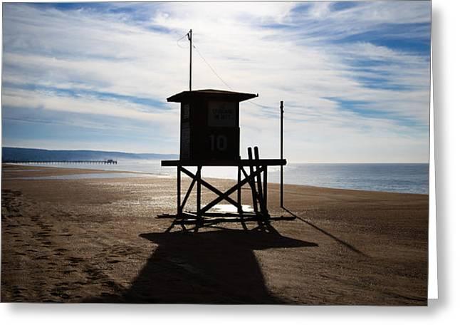 Lifeguard Tower Newport Beach California Greeting Card by Paul Velgos