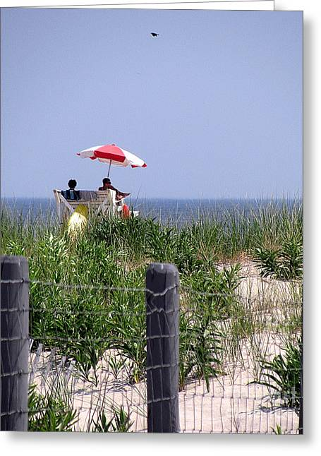 Original Art Photographs Greeting Cards - Lifeguards Greeting Card by Colleen Kammerer