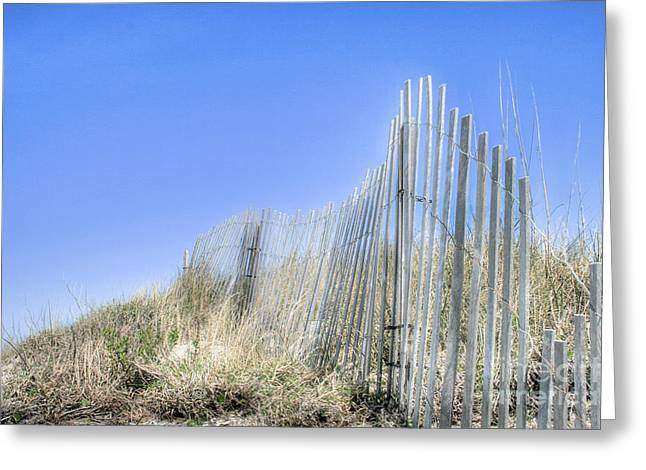 Sand Fences Greeting Cards - Lifes A Beach 2 Greeting Card by Sari Sauls