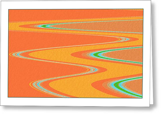 Tangerine Digital Art Greeting Cards - Lifes an Adventure Greeting Card by Bonnie Bruno