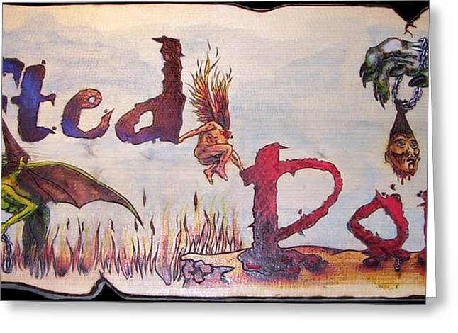 Woodburning Greeting Cards - Lifted Down Greeting Card by Kenneth Lambert