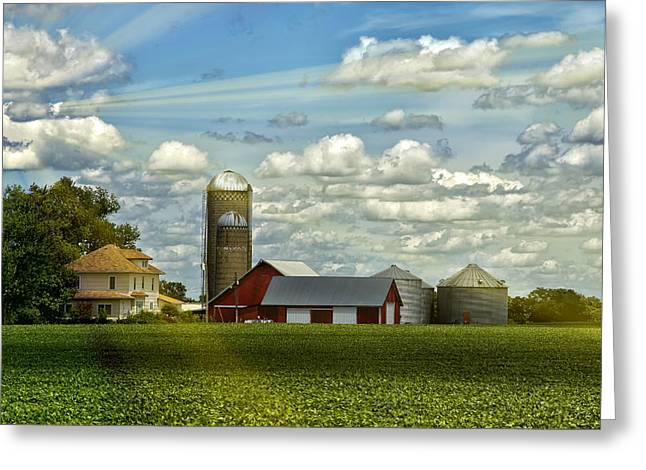 Barn Digital Greeting Cards - Light After The Storm Greeting Card by Bill Tiepelman