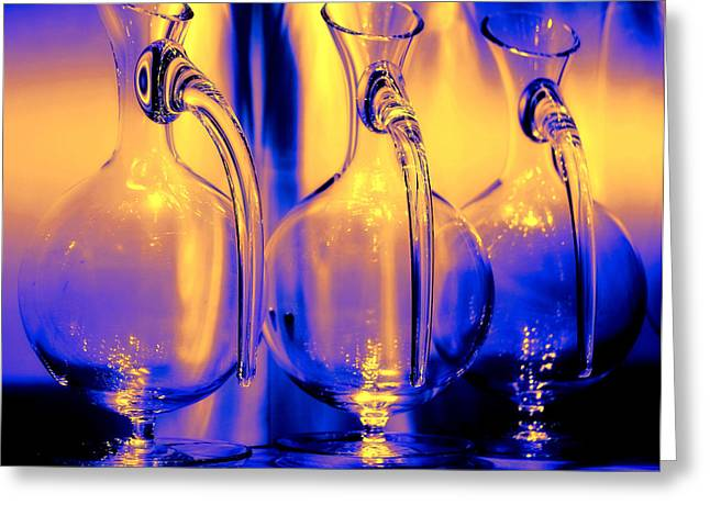 Carafe Greeting Cards - Light and Colors Play I Greeting Card by Jenny Rainbow