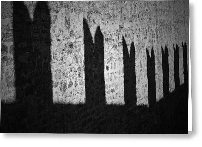 Battlement Greeting Cards - Light And Shadow Greeting Card by Joana Kruse