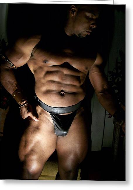 Georgia Bodybuilding Greeting Cards - Light and Shadow Muscle Art Greeting Card by Jake Hartz