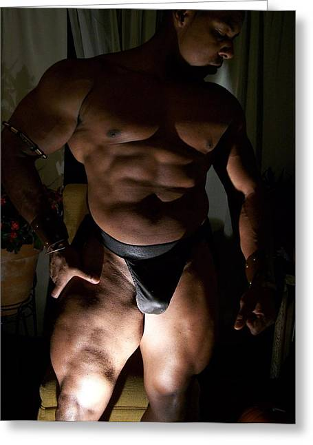 Georgia Bodybuilding Greeting Cards - Light and Shadows The Art of Muscle  Greeting Card by Jake Hartz