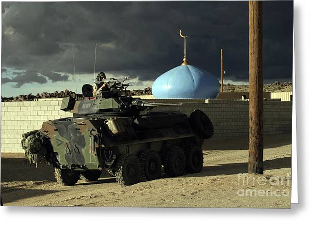 Light Armored Vehicle Commander Mans Greeting Card by Stocktrek Images