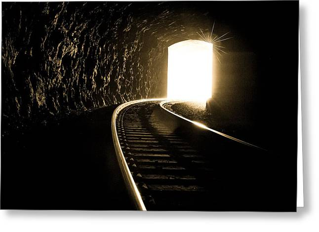 Light At The End Of The Tunnel Greeting Card by Joye Ardyn Durham