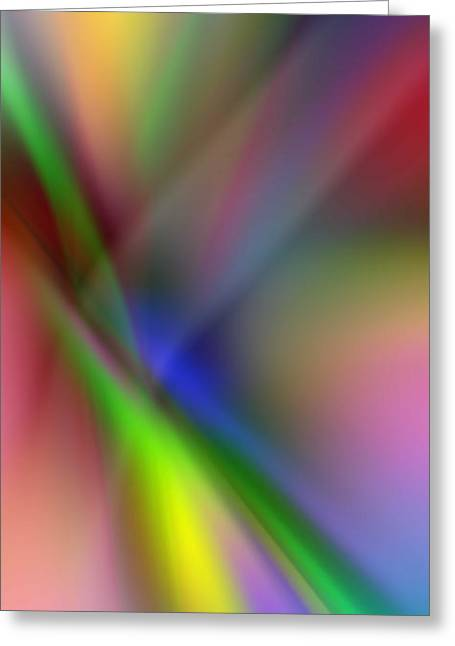 Subtle Colors Greeting Cards - Light Beams Greeting Card by John Neumann