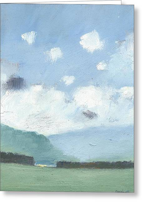 Light Blue Morning Greeting Card by Alan Daysh