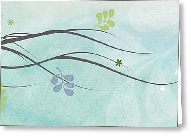 Abstract Digital Mixed Media Greeting Cards - Light branch Greeting Card by Nomi Elboim
