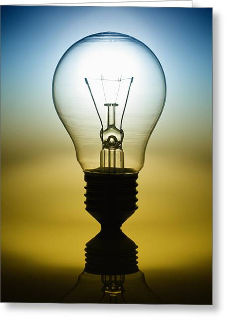 Flash Greeting Cards - Light Bulb Greeting Card by Setsiri Silapasuwanchai
