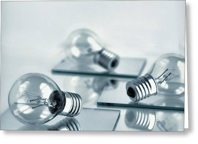 Light Bulbs Greeting Cards - Light Bulbs Greeting Card by HD Connelly