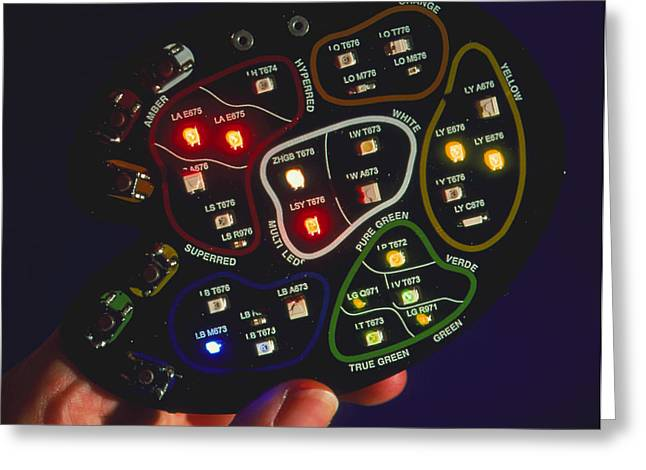 Lead Greeting Cards - Light-emitting Diodes Greeting Card by Volker Stegersiemens