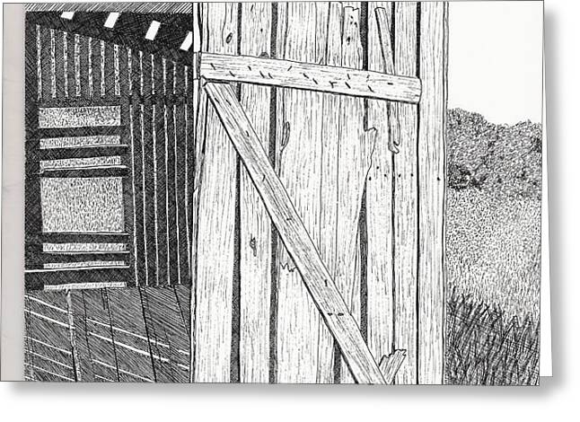 Light Filtering Through Shed Greeting Card by Pat Price