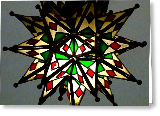 Geometric Style Greeting Cards - Light Fixture Greeting Card by Jeff Lowe