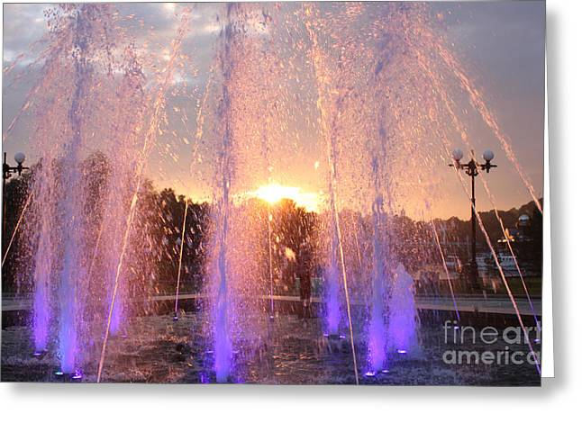Evgeny Pisarev Greeting Cards - Light fountain  Greeting Card by Evgeny Pisarev