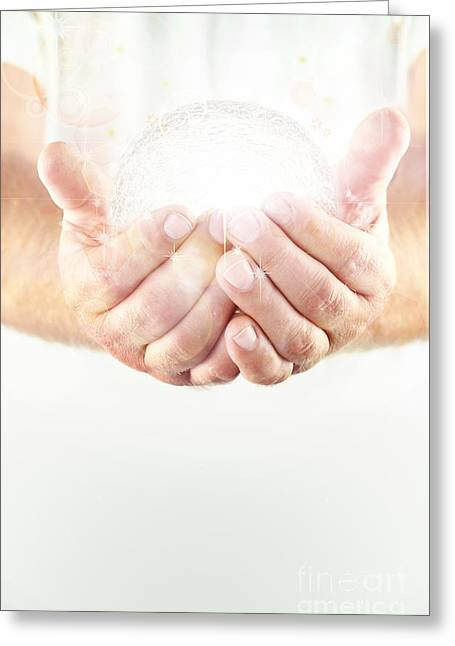 Human Spirit Photographs Greeting Cards - Light Holder Greeting Card by Stephanie Frey