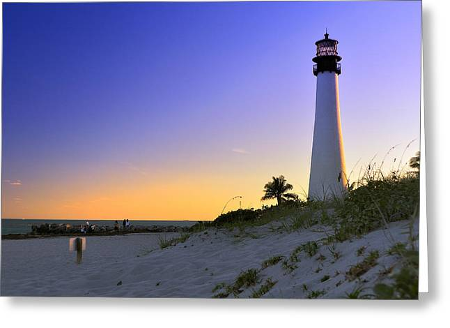 Light House Greeting Card by Andres LaBrada