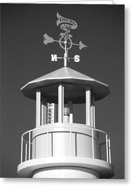 Weathervane Digital Art Greeting Cards - LIGHT HOUSE on CONEY ISLAND in BLACK AND WHITE  Greeting Card by Rob Hans