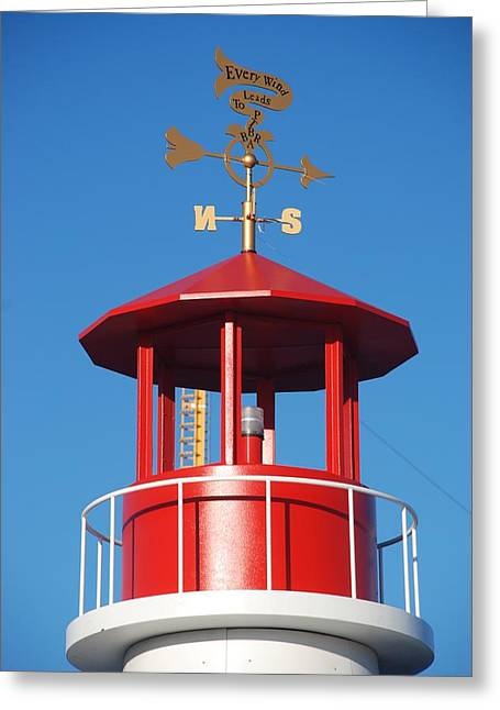 Light House On Coney Island Greeting Card by Rob Hans