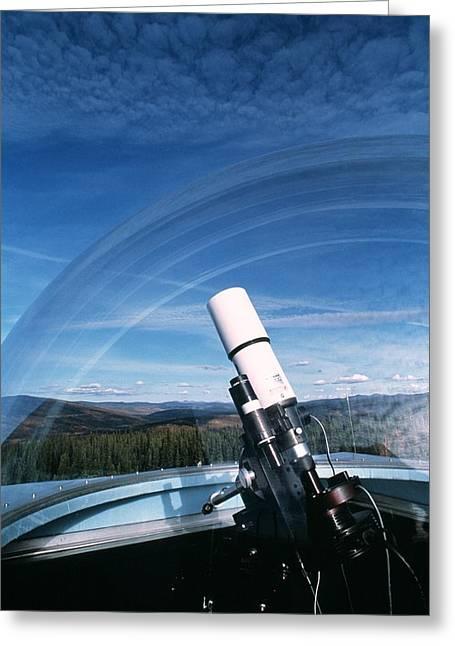 Magnitude Greeting Cards - Light-intensity Camera Greeting Card by Alan Sirulnikoff