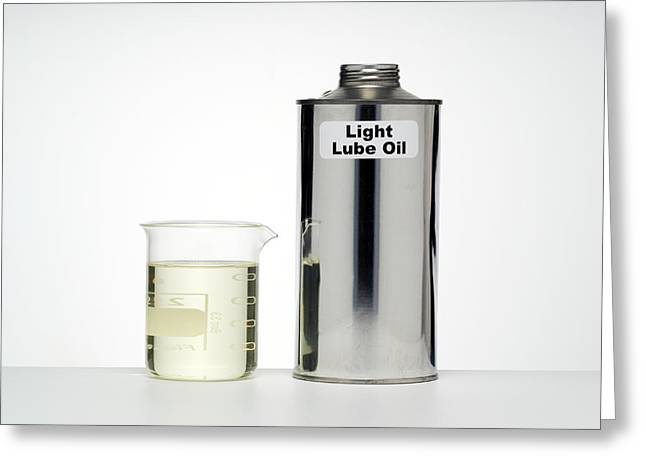 Lubricate Greeting Cards - Light Lubricating Oil Greeting Card by Paul Rapson