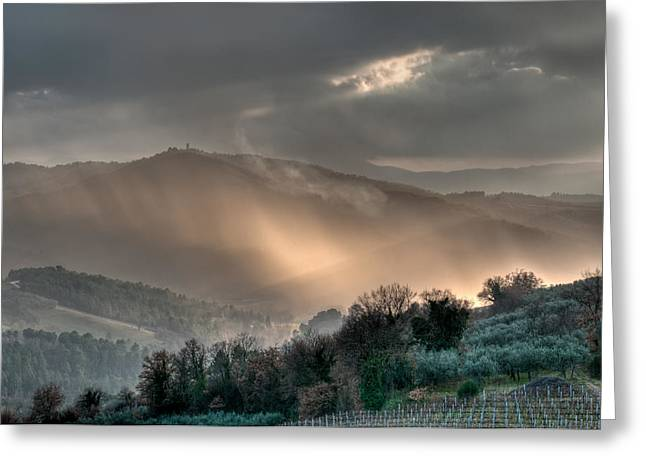 Grey Clouds Greeting Cards - Light Greeting Card by Michael Avory