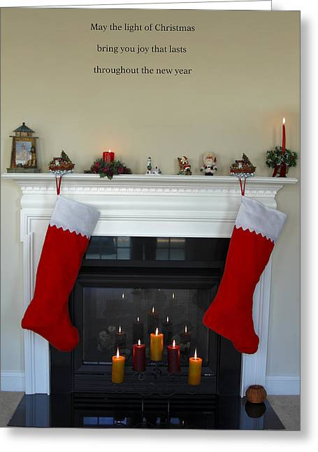 Decorated For Christmas Greeting Cards - Light of Christmas Greeting Card by Sally Weigand